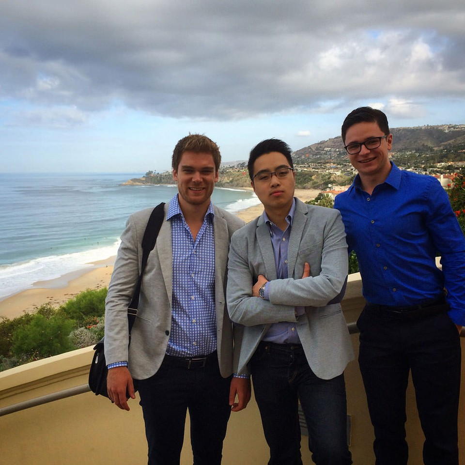 The Communitech Mafia Goes to California: Mike Reid, Desmond Choi, and Andrew at Kairos Global Summit.
